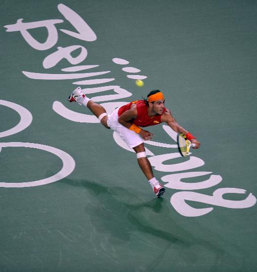 图文-奥运会网球比赛精彩瞬间回顾 纳豆飞身救球