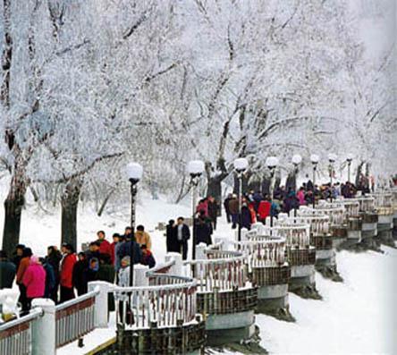 """吉林市著名景点雾凇:""""冬天里的春天""""般诗情画意"""