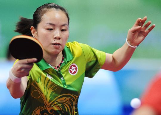 图文-奥运会乒乓球经典瞬间回顾 帖亚娜精彩回击