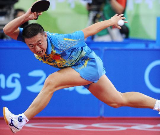 图文-奥运会乒乓球经典瞬间回顾 马琳无愧男单第一