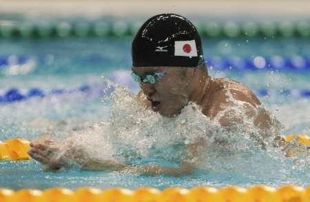 图文-男子100米蛙泳半决赛 日本蛙王北岛康介