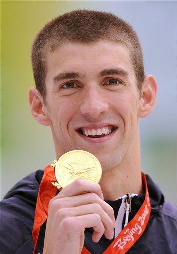 图文-男子100米蝶菲尔普斯夺冠 100米蝶泳金牌