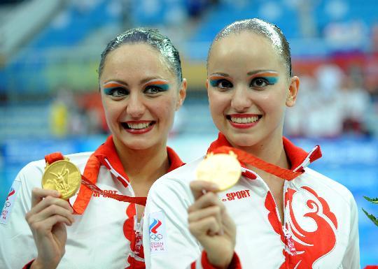 图文-花样游泳女子双人决赛赛况 俄罗斯选手获金