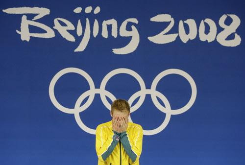 图文-男子10米跳台中国摘银 米查姆激动一刻
