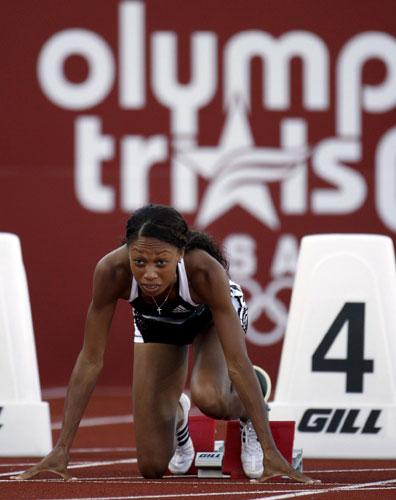 图文-美国田径奥运选拔赛首日 菲利克斯期待突破