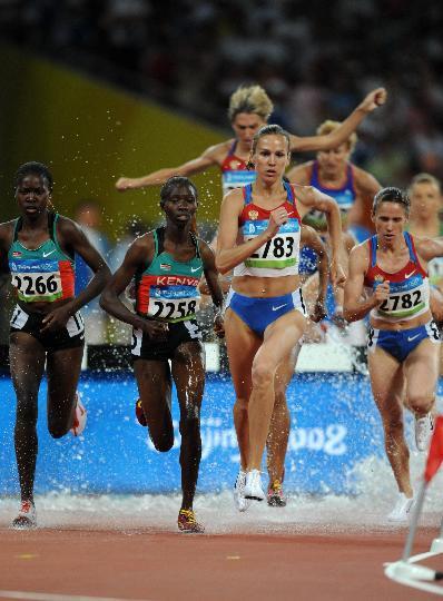 图文-奥运女子3000米障碍赛 俄罗斯选手夺金