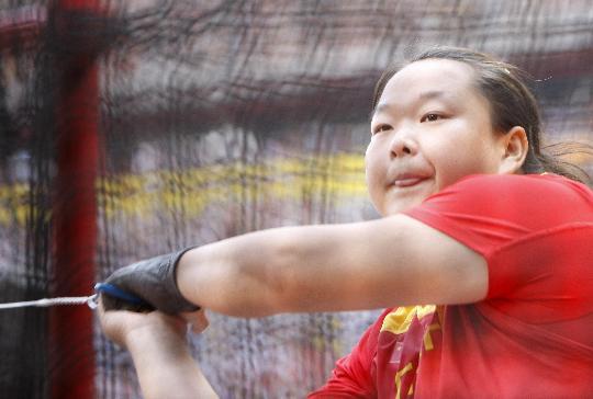 图文-女子链球及格赛赛况 王铮在女子链球及格赛中