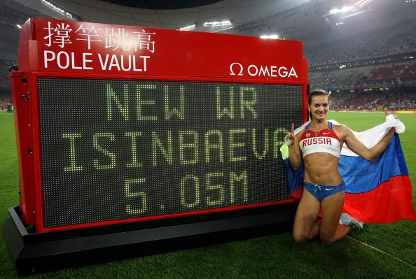 伊辛巴耶娃刷新世界纪录