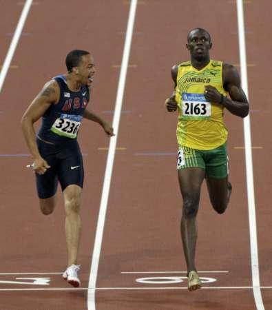 图文-田径男子200米半决赛 斯皮尔曼第三