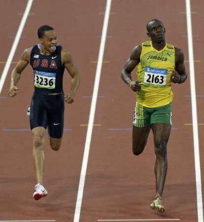 图文-田径男子200米半决赛 斯皮尔曼与飞人