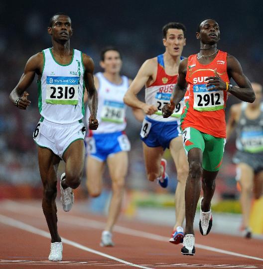 图文-奥运田径男子800米20日赛况 卡基拼命冲刺