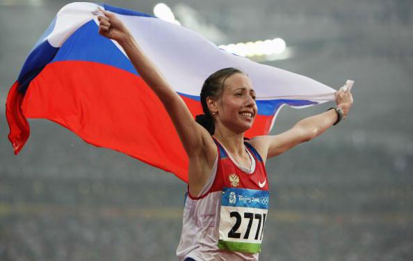 图文-田径女子20公里竞走决赛 俄罗斯国旗再飘扬