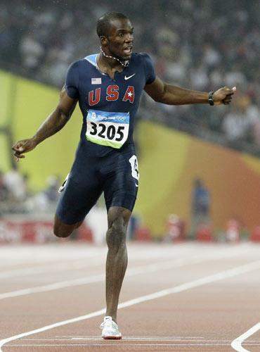 图文-田径男子400米决赛 美国田径再夺牌