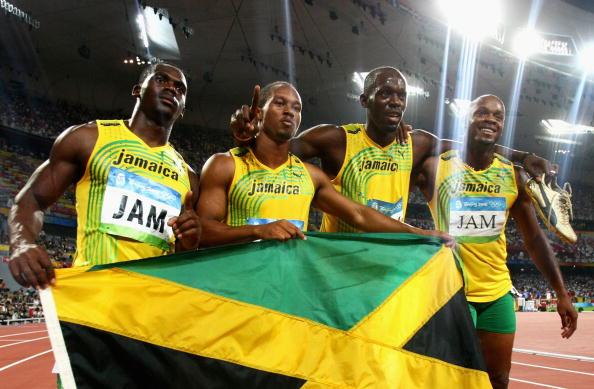 图文-牙买加刷新4x100纪录 牙买加群星闪耀鸟巢