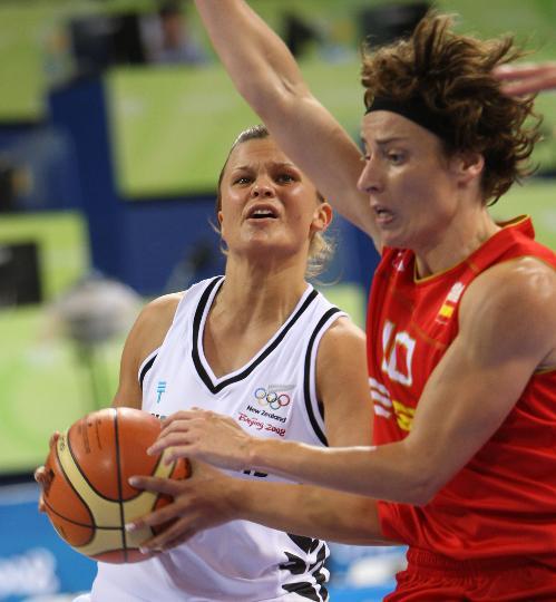 图文-女篮小组赛西班牙战胜新西兰 神情怪异