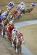 图文-自行车女子记分赛决赛 自金牌冲击