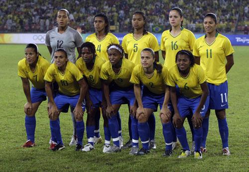 图文-女足决赛美国大战巴西 巴西首发阵容