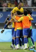 图文-男足巴西胜比利时摘铜 胜利已握在手