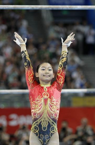 图文-柳金获体操女子全能冠军 江钰源的落地动作