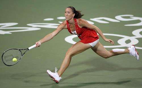 图文-奥运会网球女单首轮11日赛况 已经竭尽全力