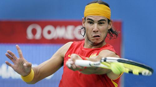 图文-[奥运]网球男子单打决赛 平抽球威力更足