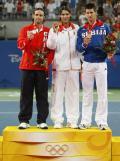 图文-[奥运]网球男子单打决赛 前三名得主颁奖典礼
