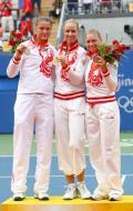 图文-奥运网球女子单打决赛 德门蒂耶娃引领群芳