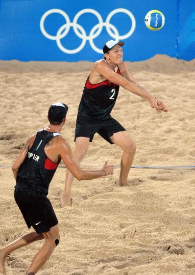 沙滩排球10日预赛赛场