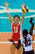 图文-奥运会17日女排小组赛赛况 波兰队拦网