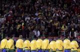 巴西球员列队