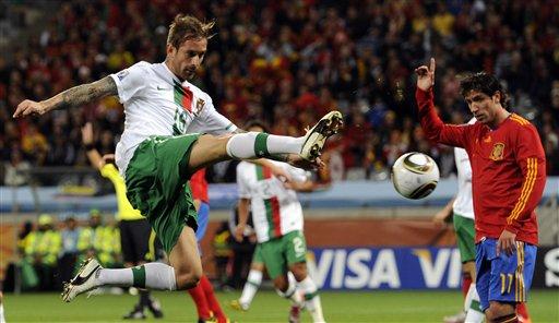 图文-[1\/8决赛]西班牙VS葡萄牙 裁判已经吹哨_