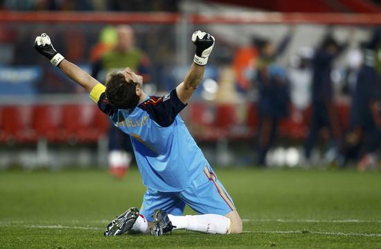 图文-[1\/4决赛]巴拉圭0-1西班牙 卡西利亚斯仰天