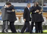 乌拉圭教练庆祝