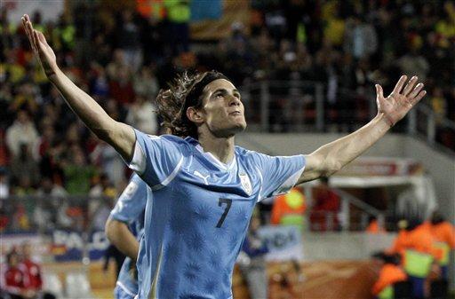 图文-[季军战]乌拉圭2-3德国卡瓦尼透着骄傲