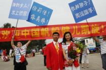 中国奥运代表团载誉回国