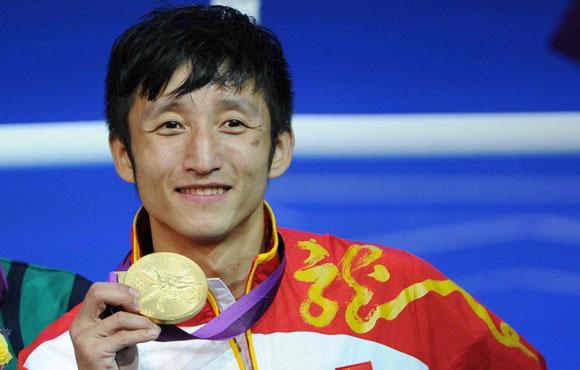 邹市明卫冕男子拳击49公斤级金牌