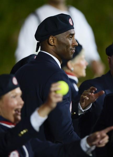 伦敦奥运会开幕式 美国代表团科比入场图片