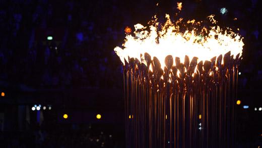 2012伦敦奥运会开幕 圣火点燃