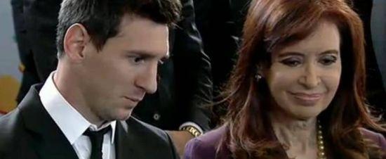 梅西与阿根廷总统克里斯蒂娜
