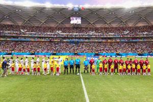 美国队VS葡萄牙队赛前仪式