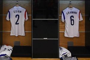 韩国队赛前更衣室