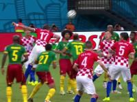 进球视频-克罗地亚角球再发难 曼朱基齐头槌建功