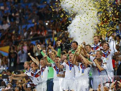 德国冠军颁奖仪式