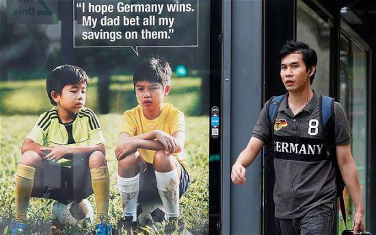 新加坡反赌球广告