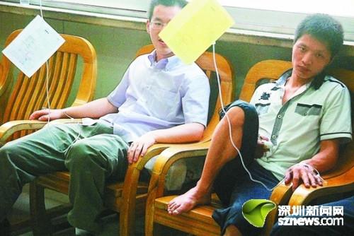 多名腾讯员工在医院就诊。深圳晚报见习记者温庆强 摄