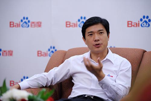 李彦宏接受采访