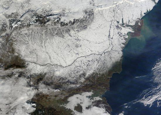 暴雪下的中欧