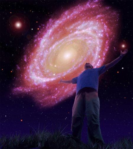 艺术概念图,展现了1万亿年后的银河仙女星系。