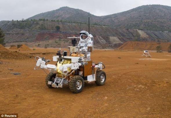 奥地利航天论坛团队的测试场地:安达卢西亚的矿区荒野提供了一个非常接近火星环境的理想场所