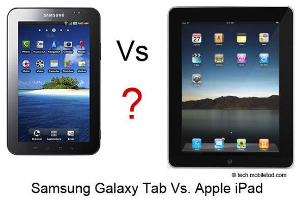 三星Galaxy Tab平板电脑使用了矩形外观,这让苹果颇为不满,认为是抄袭了iPad